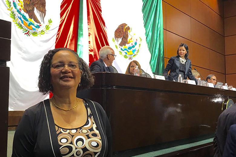 Barbara McGaw at the Mexican Congress