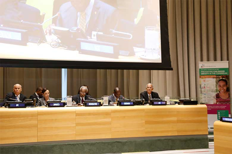 Moderated panel discussion at the UNGA Childhood Obesity side event