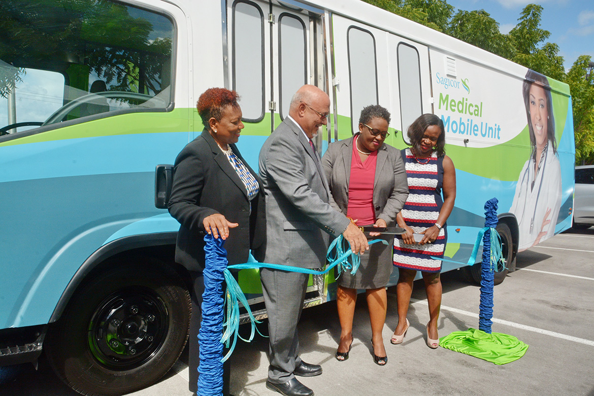 Sagicor Group Life and Health Department unveiled an innovative Wellness Initiative, complete with a fully equipped and professionally staffed Mobile Medical Unit