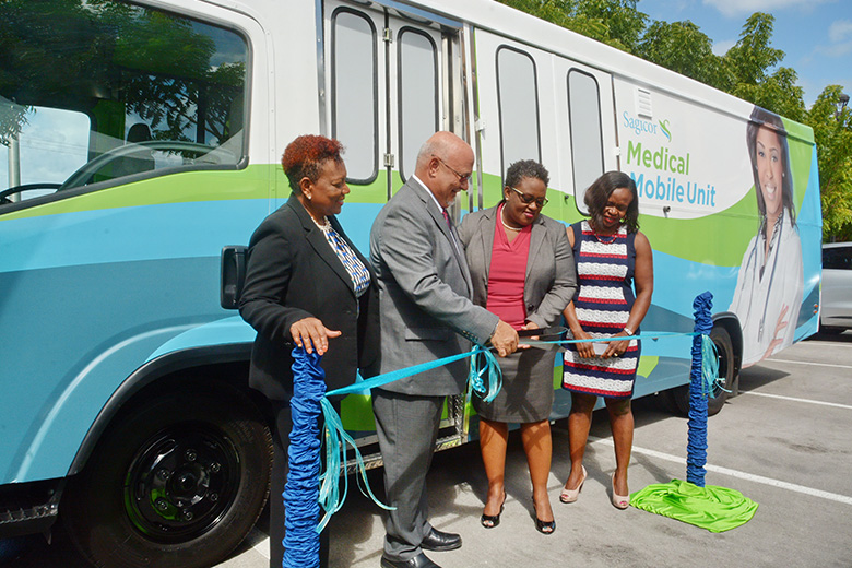 Sagicor Launches Wellness Initiative with a Fully Equipped Mobile Medical Unit