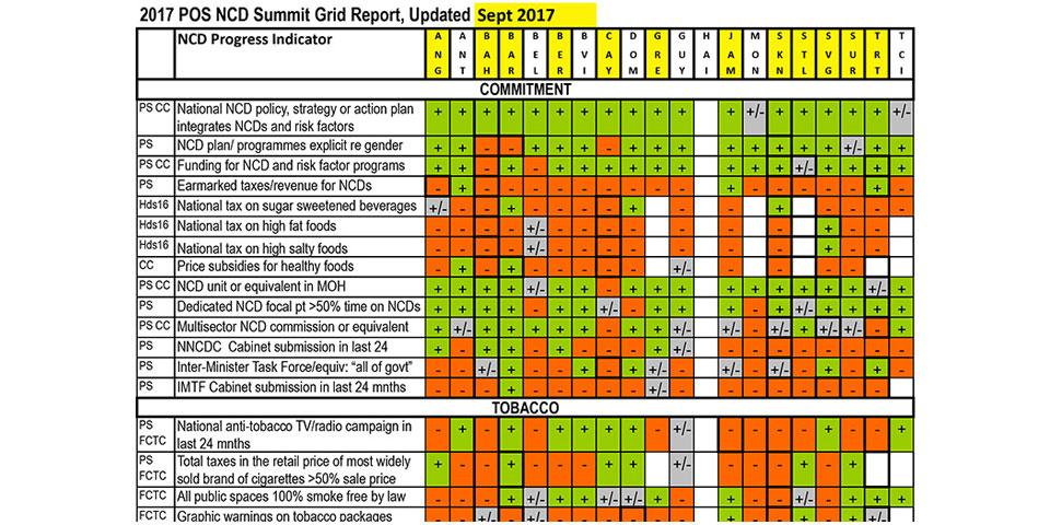 The POS NCD Summit Progress Grids