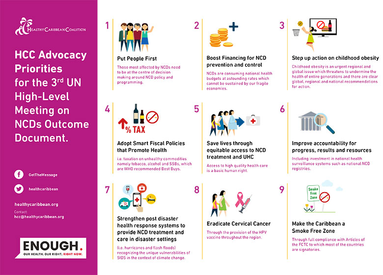 HCC Advocacy Priorities for the 3rd UNHLM on NCDs
