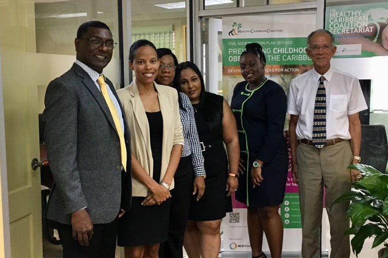 The Guyana study team at the HCC offices