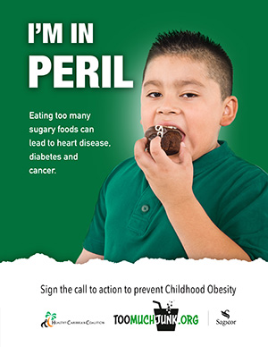 Childhood Obesity Prevention Call to Action I'm in Peril