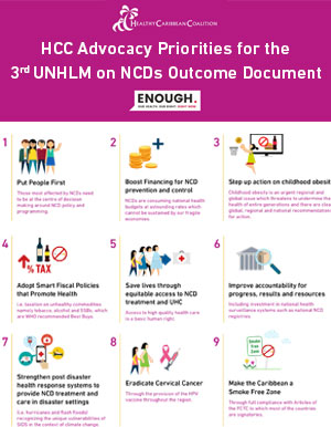 HCC Advocacy Priorities for the 3rd UNHLM on NCDs Outcome Document