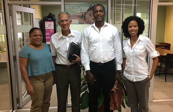 St. Lucia National NCD Commission visit to HCC