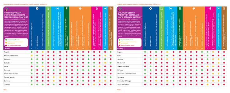Childhood Obesity Prevention Scorecard (COPS) Regional Snapshot