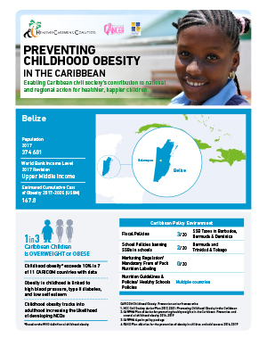 Belize obesity fact sheets