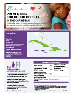 Jamaica obesity fact sheets