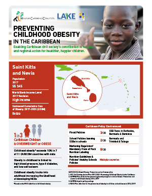 St Kitts and Nevis obesity fact sheets
