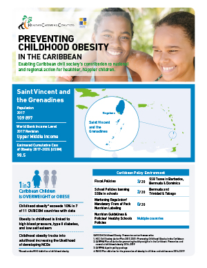 St. Vincent and the Grenadines obesity fact sheets