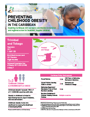 Trinidad and Tobago obesity fact sheets