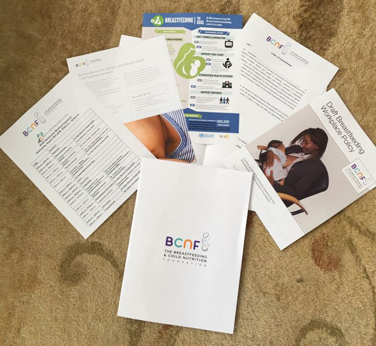 The Breastfeeding & Child Nutrition Foundation branded materials