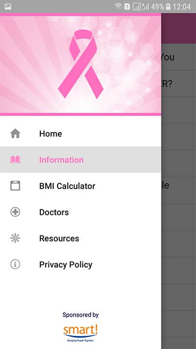 Belize Cancer Society Health App