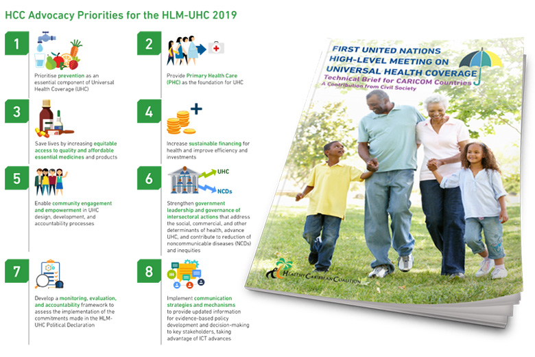 First United Nations High-Level Meeting on Universal Health Coverage - Technical Brief for CARICOM Countries:A Contribution from Civil Society.