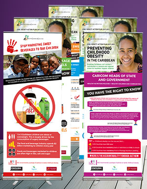 Accelerating Nutrition Polices in the Caribbean - 5 Meeting Banners
