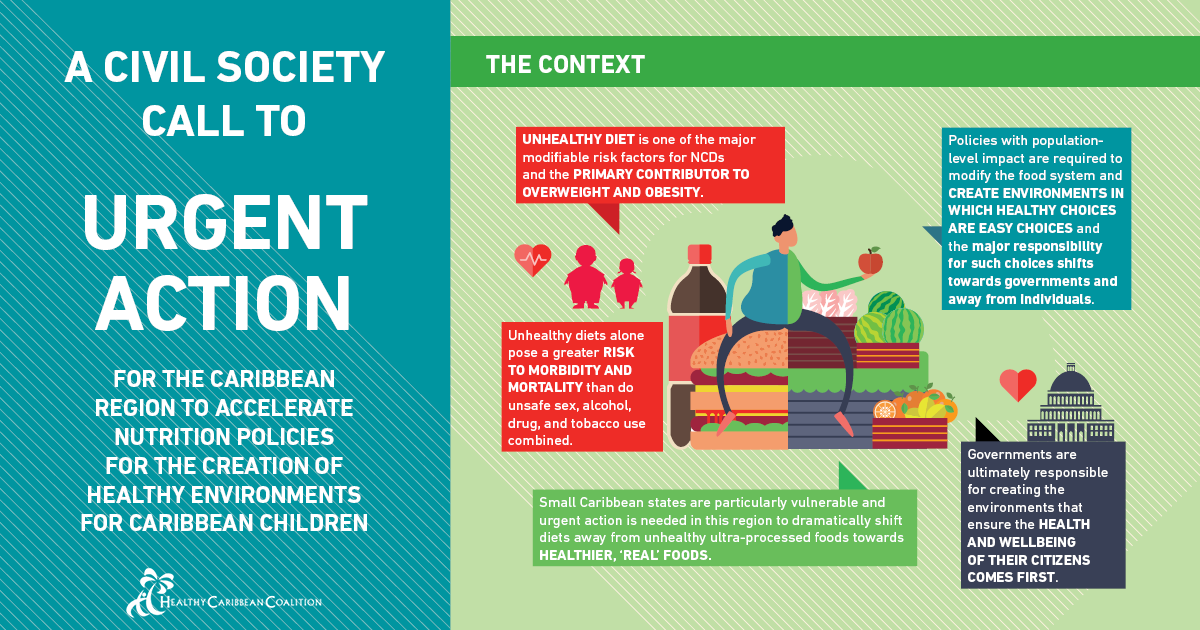 Accelerate Nutrition Policies for the Creation of Healthy Environments for Caribbean Children