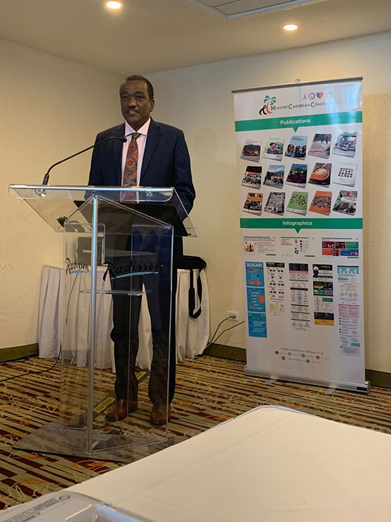 The Hon. Lt Col. Jeffrey Bostic, Minister of Health and Wellness, Barbados, Climate Change and NCDs in the Caribbean
