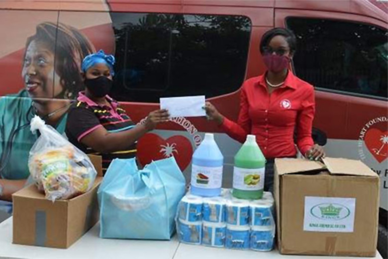 Heart Foundation of Jamaica Helps Single Mom Affected by COVID-19