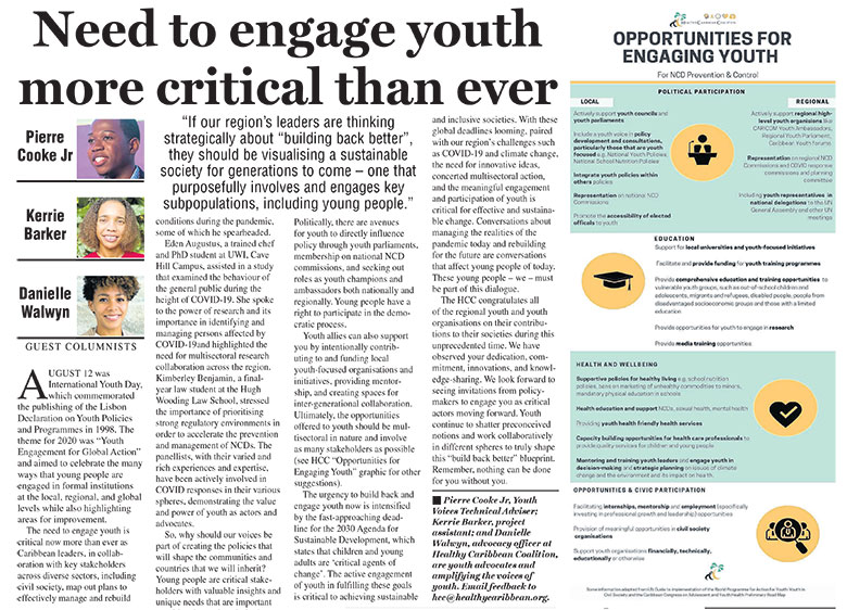 Need To Engage Youth More Critical Than Ever
